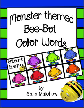 Monster themed Bee-Bot Color Word Recognition Mat