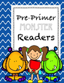 Monster themed Pre-primer Dolch word readers with flashcards