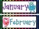 Monster-themed Printable Calendar Set