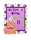 Monster themed classroom writing binder cover