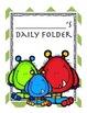 Monster themed daily folder cover