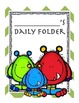 Monster themed daily folder cover