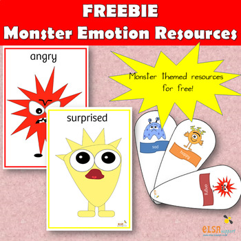 Monster themed emotion posters and fans