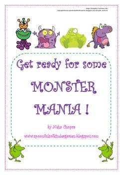 Alphabet- Monster themed letter pack