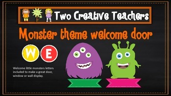 Monster themed welcome display