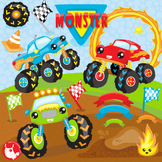 Monster trucks clipart commercial use, vector graphics  - CL1103