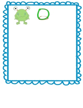 Monster word wall letter cards