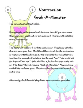 Monster Contraction Game
