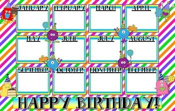 MonsterTheme Birthday Poster