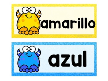 Monster_Color Labels (Spanish)