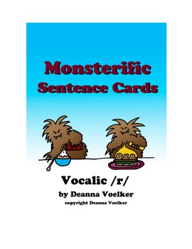 Monsterific Sentence Cards for Vocalic /r/