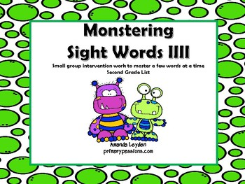 Monstering Sight Word 4