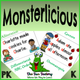 Monsterlicious Book Companion Lesson Plans, Onomatopoeia Alliteration ABC Order