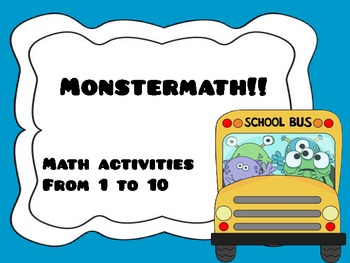Monstermath! Math activities from 1 to 10
