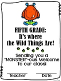 Welcome to Fifth Grade / Grade Five Certificate {Wild Things}