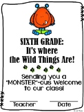 Welcome to Sixth Grade / Grade Six Certificate {Wild Things}