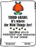 Welcome to Third Grade / Grade Three {Wild Things}