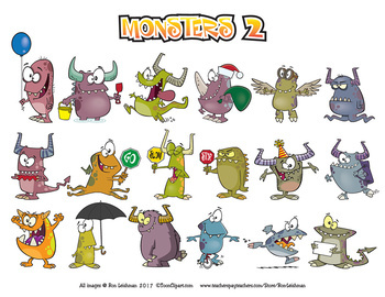 Monsters 2 Cartoon Clip art