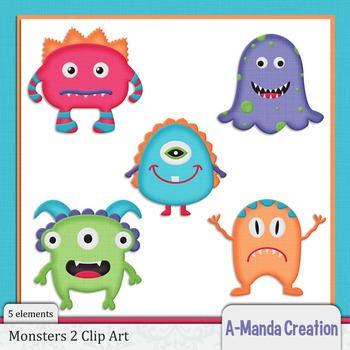 Monsters 2 Clip Art