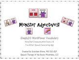 Monsters Adjectives for Simply 20 SymbolStix Vocabulary - AAC