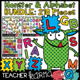 Monsters, Alphabet Blocks & Letters BUNDLE - 210 Pieces