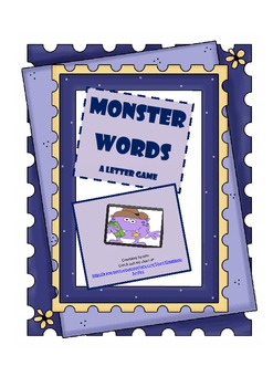 LETTER RECOGNITION, GAME, MONSTERS