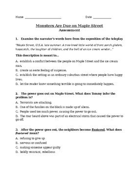 Monsters Are Due On Maple Street Assessment