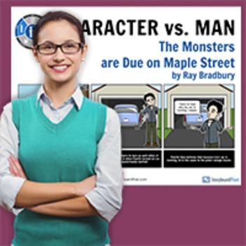 Monsters Are Due On Maple Street: Literary Conflict - Character vs. Man Poster