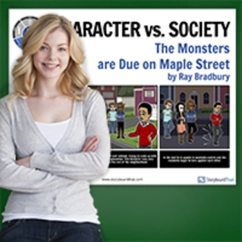 Monsters Are Due On Maple Street: Literary Conflict -Character vs Society Poster