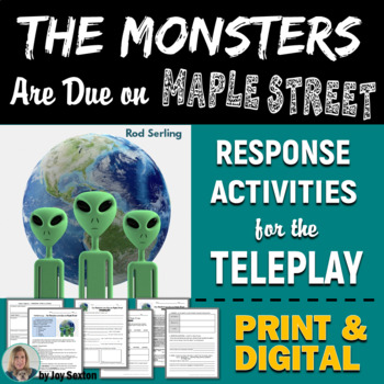 monsters are due on maple street literature response packet w  monsters are due on maple street literature response packet w theme essay