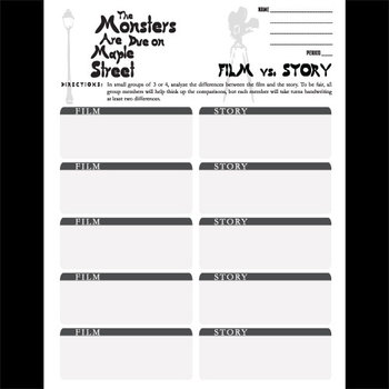 Monsters Are Due on Maple Street Movie vs Story Comparison