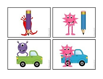 Monsters Are Everywhere!  Activity cards focusing on basic prepositions!