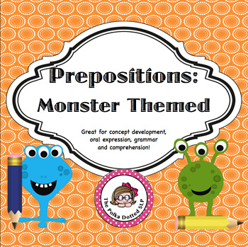 Monsters Are Everywhere!  Activity cards focusing on basic