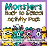 Back to School Activities: First Week of School (with Monsters)
