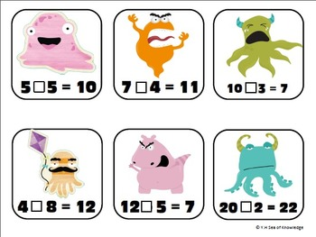 Back to School Monsters Literacy and Math Fun Pack!