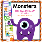 Behavior Clip Chart Behavior Management MONSTERS