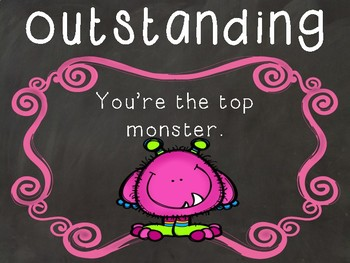 Monsters Behaviour Management Chart