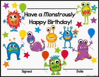 Monsters Birthday Kit