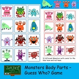 Monsters Body Parts Guess Who Game