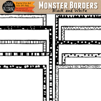 Monsters Borders/Frames Clip Art