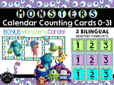 Monsters Calendar Counting Number Cards