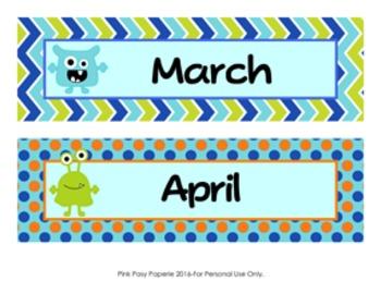Monsters Calendar Headers