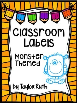 Monsters Classroom Supply Labels