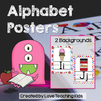 Monsters Classroom Theme- Alphabet Posters