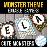 Monsters Classroom Theme Editable Banners