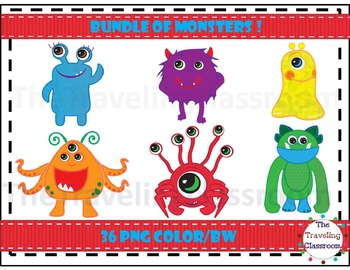 Monsters Clip Art ~ Bundle