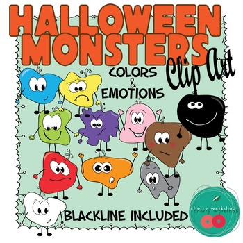 Monsters Clip Art -  Halloween  Colors and Feeling Clip Art {Commercial Use}