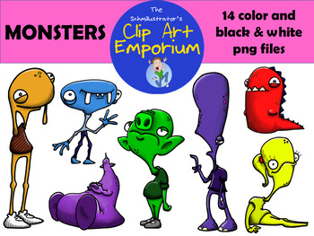 Monsters Clip Art (FREE!) - The Schmillustrator's Clip Art Emporium