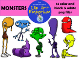 Monsters Clip Art (FREE!) - The Schmillustrator's Clip Art
