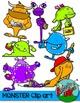 Monsters Clip art - Neon Colors